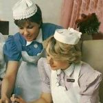 Nurses - starched caps